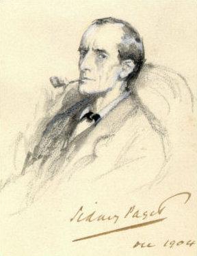 Paget portrait of Sherlock.